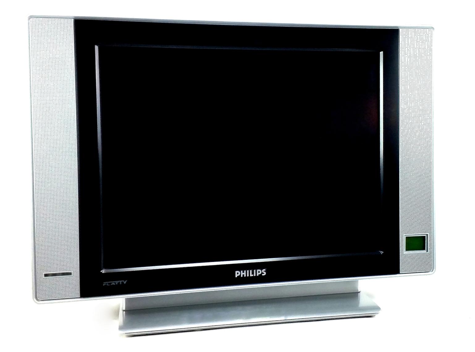 philips 20 51cm flat tv lcd fernseher chinch scart dvi s. Black Bedroom Furniture Sets. Home Design Ideas